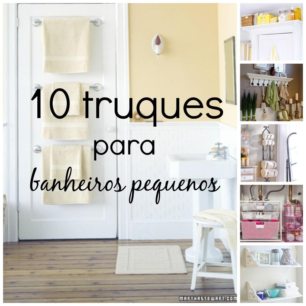10 truques para banheiros pequenos  Divirtase Organizando -> Banheiro Pequeno Onde Colocar A Lixeira