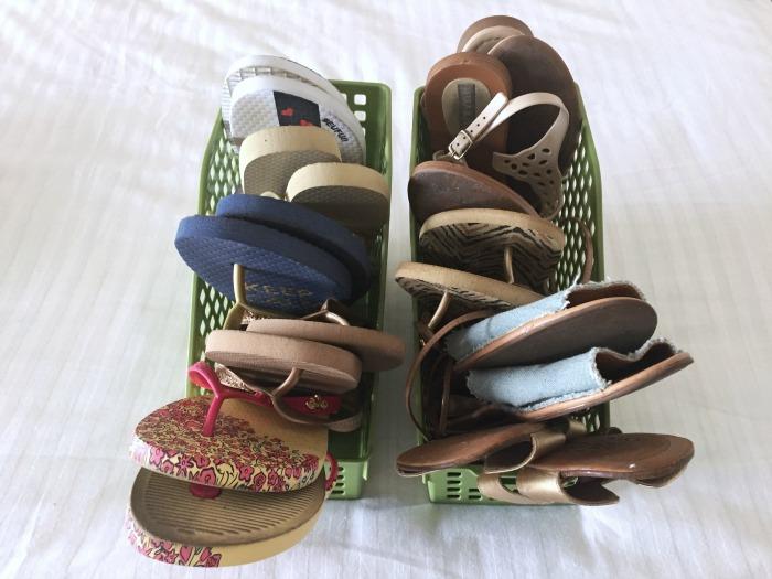 Como guardar sapatilhas e rasteirinhas | Blog Divirta-se Organizando